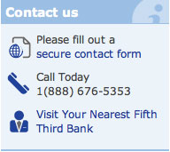 Contact Fifth Third bank