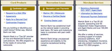Merrick loan credit card